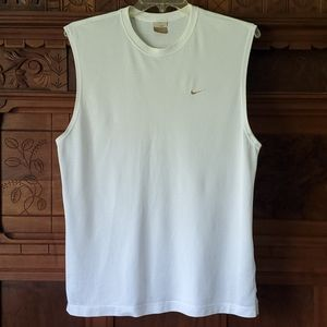 Nike White Mesh Tank Top L